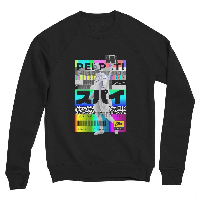 Peep It Men's Sponge Fleece Sweatshirt by ゴロキ | GORODKEY | GRDK Clothing