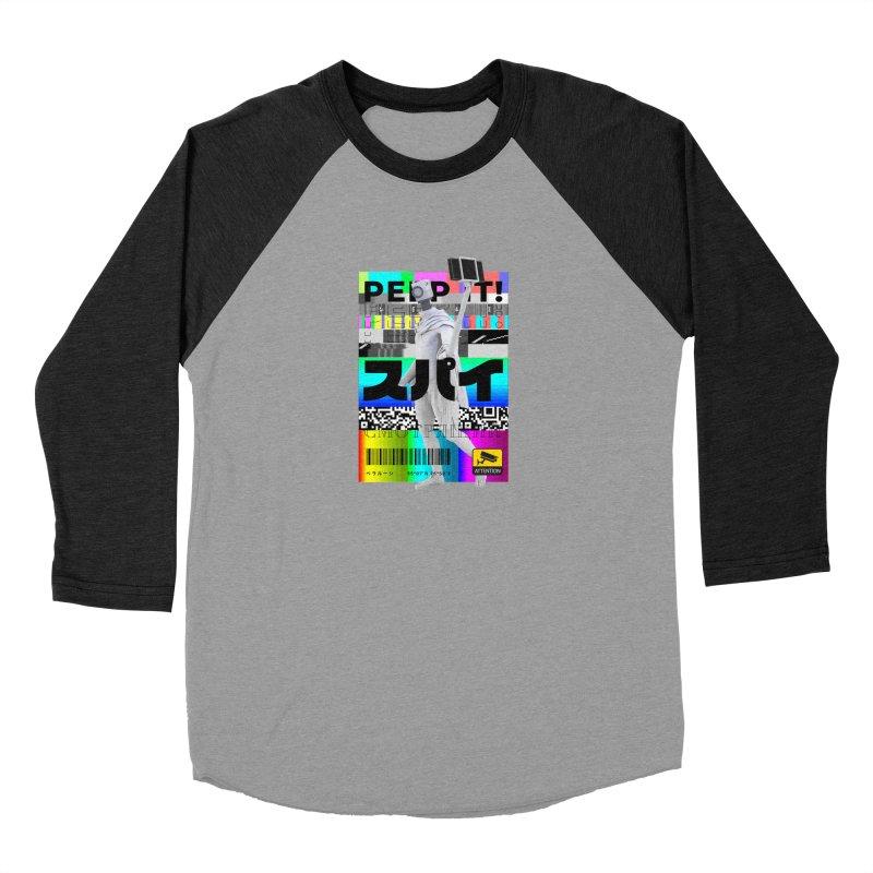 Peep It Women's Baseball Triblend Longsleeve T-Shirt by ゴロキ | GORODKEY | GRDK Clothing