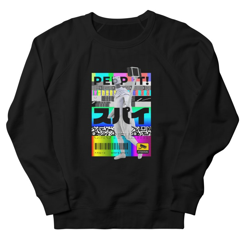 Peep It Men's French Terry Sweatshirt by ゴロキ | GORODKEY | GRDK Clothing
