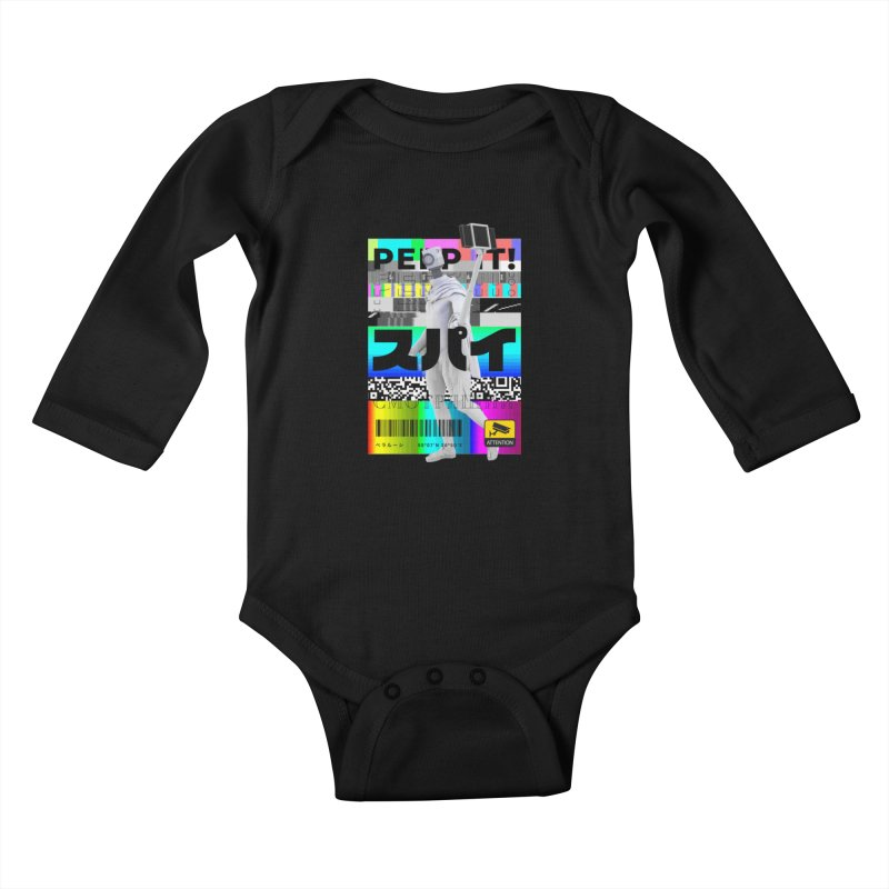 Peep It Kids Baby Longsleeve Bodysuit by ゴロキ | GORODKEY | GRDK Clothing