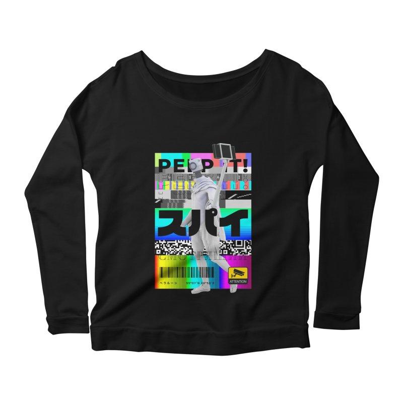 Peep It Women's Scoop Neck Longsleeve T-Shirt by ゴロキ | GORODKEY | GRDK Clothing