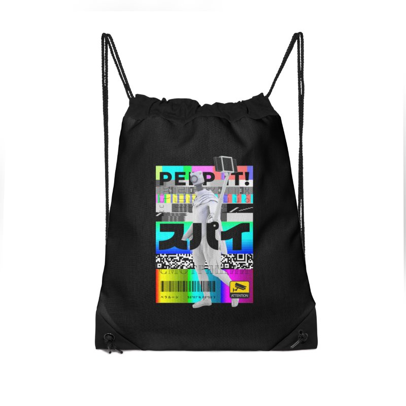 Peep It Accessories Drawstring Bag Bag by ゴロキ | GORODKEY | GRDK Clothing