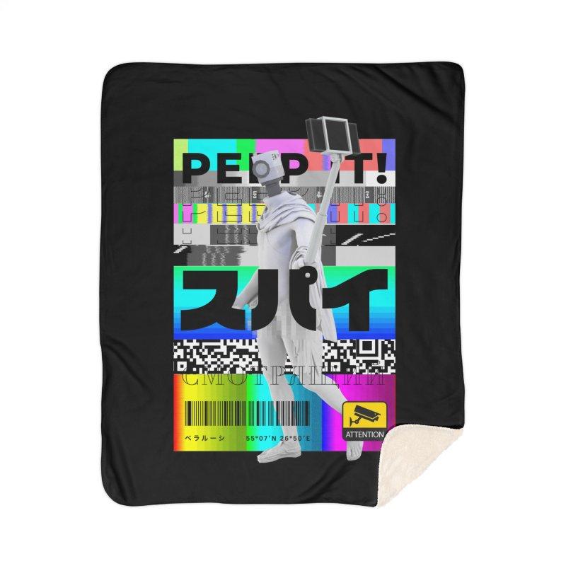 Peep It Home Sherpa Blanket Blanket by ゴロキ | GORODKEY | GRDK Clothing
