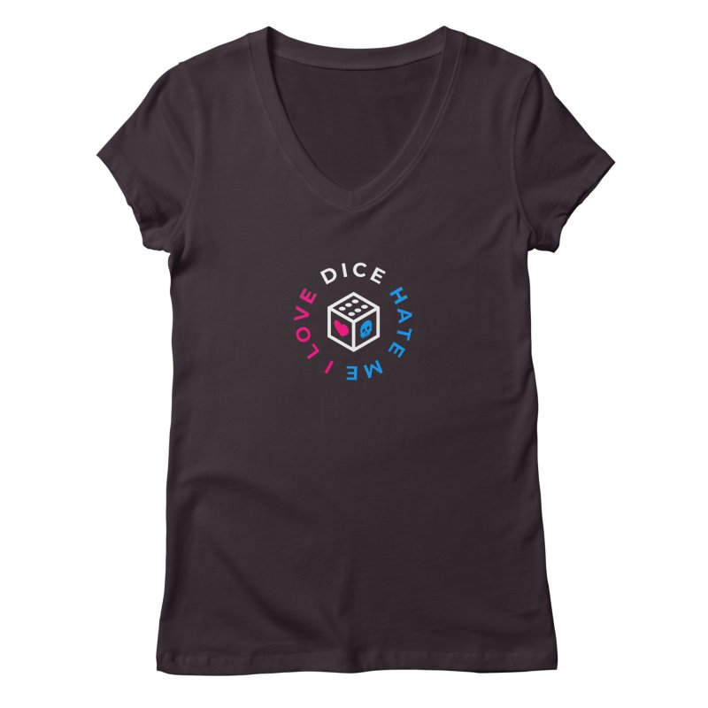 I Love Dice But Dice Hate Me Women's Regular V-Neck by ゴロキ | GORODKEY | GRDK Clothing