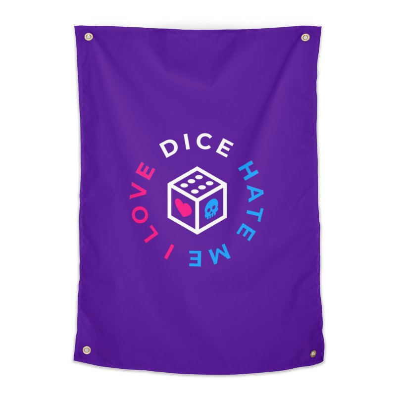 I Love Dice But Dice Hate Me Home Tapestry by ゴロキ | GORODKEY | GRDK Clothing