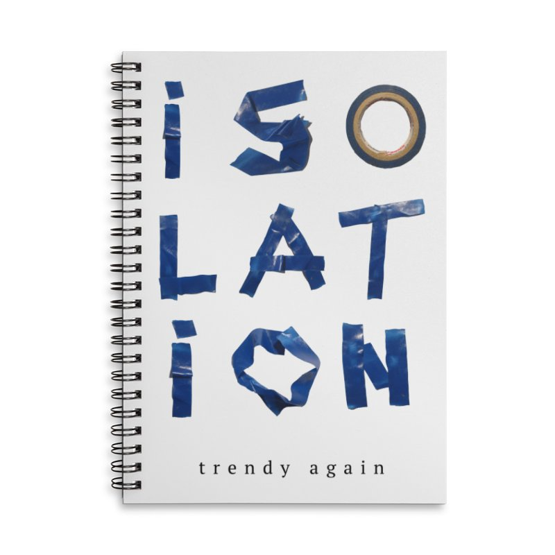 Isolation Accessories Lined Spiral Notebook by ゴロキ | GORODKEY | GRDK Clothing