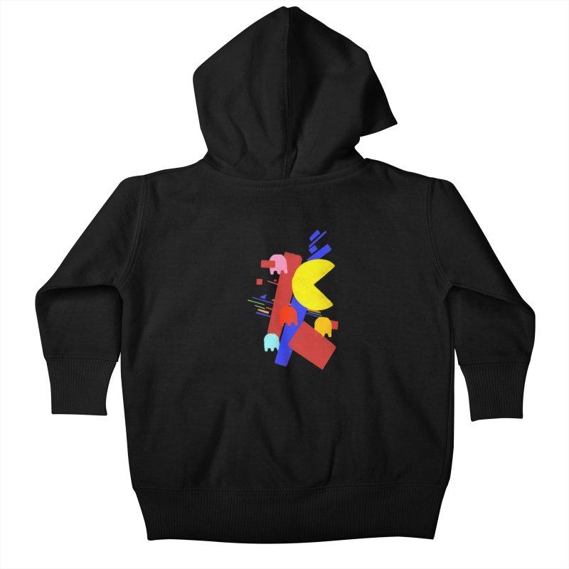 Ghostly Maze Kids Baby Zip-Up Hoody by ゴロキ | GORODKEY | GRDK Wear & Clothing