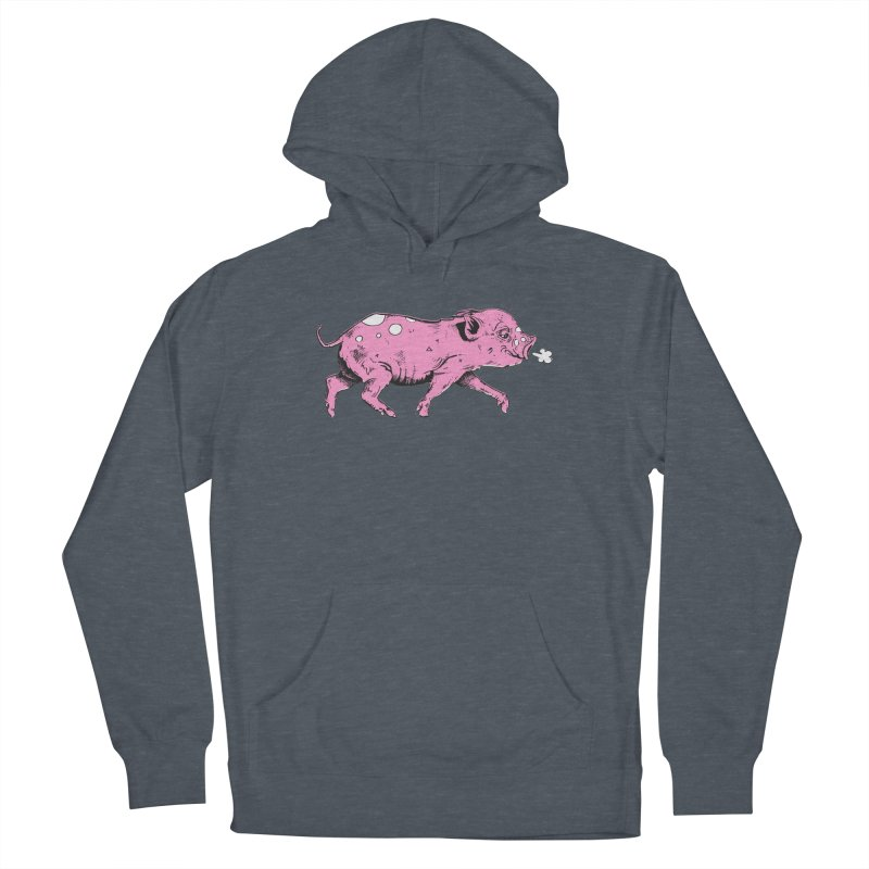 Hater Piggie Men's Pullover Hoody by Garrett Shane Bryant