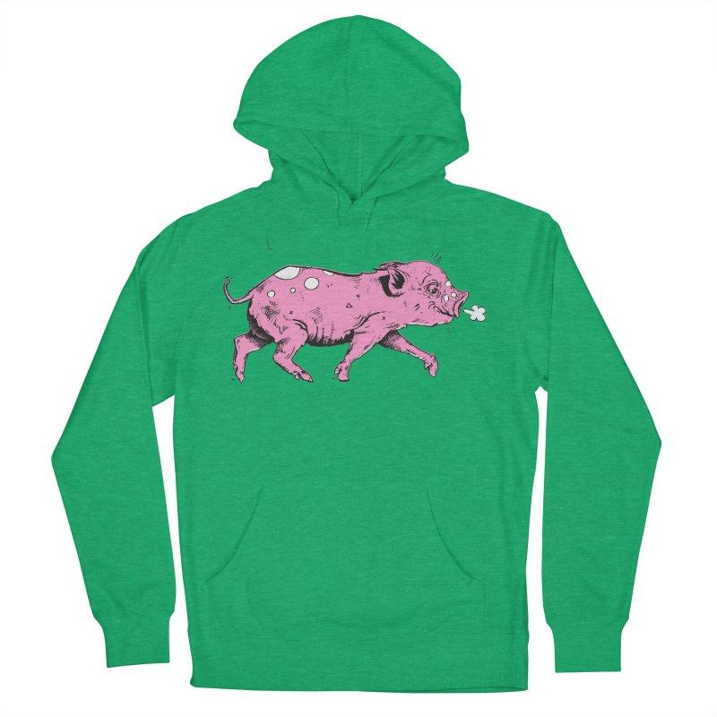 Hater Piggie Women's French Terry Pullover Hoody by Garrett Shane Bryant