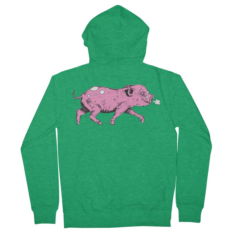Hater Piggie Men's Zip-Up Hoody by Garrett Shane Bryant