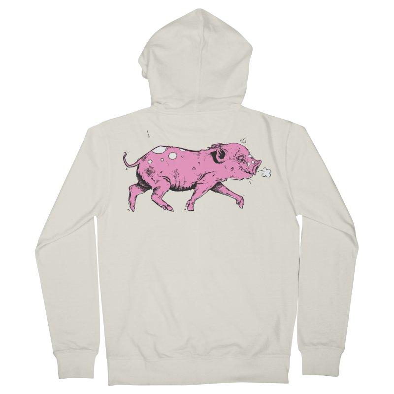 Hater Piggie Men's Zip-Up Hoody by Garrett Shane Bryant