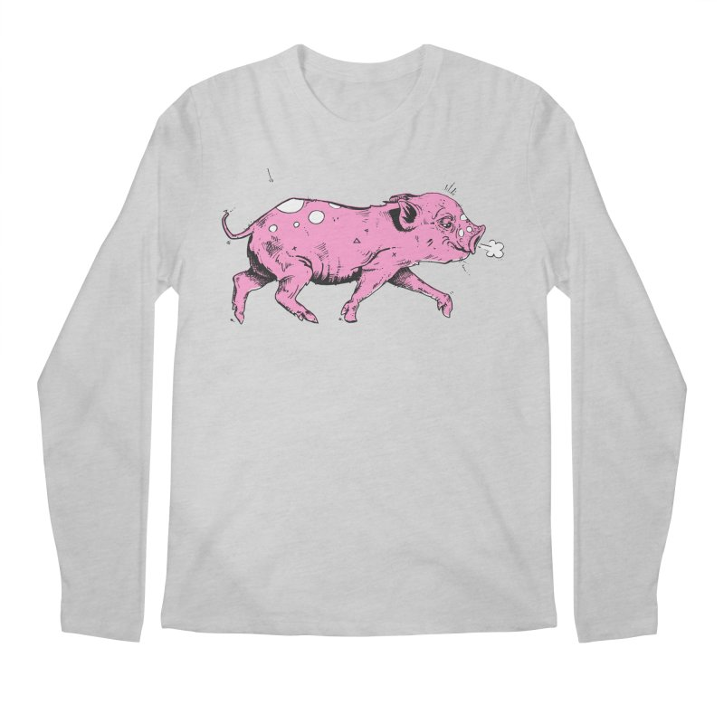 Hater Piggie Men's Regular Longsleeve T-Shirt by Garrett Shane Bryant