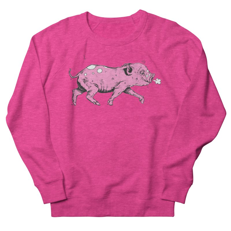 Hater Piggie Women's French Terry Sweatshirt by Garrett Shane Bryant