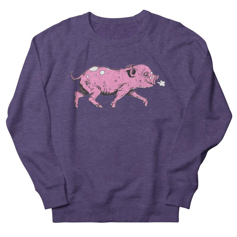 Hater Piggie Men's French Terry Sweatshirt by Garrett Shane Bryant