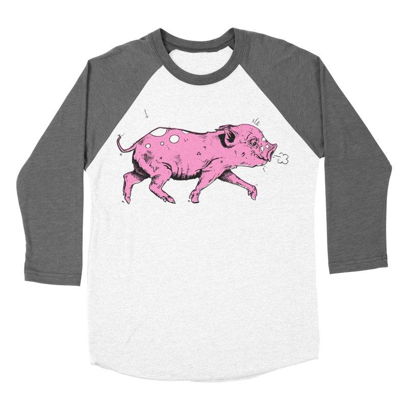 Hater Piggie Women's Baseball Triblend T-Shirt by Garrett Shane Bryant