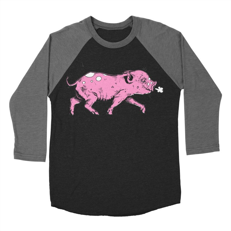 Hater Piggie Women's Baseball Triblend Longsleeve T-Shirt by Garrett Shane Bryant