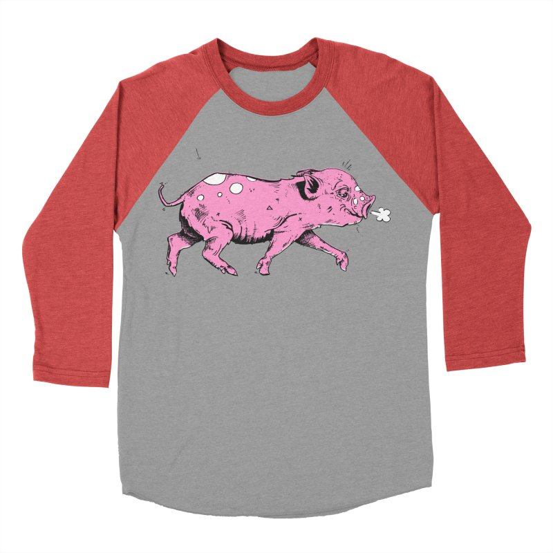 Hater Piggie Men's Baseball Triblend T-Shirt by Garrett Shane Bryant