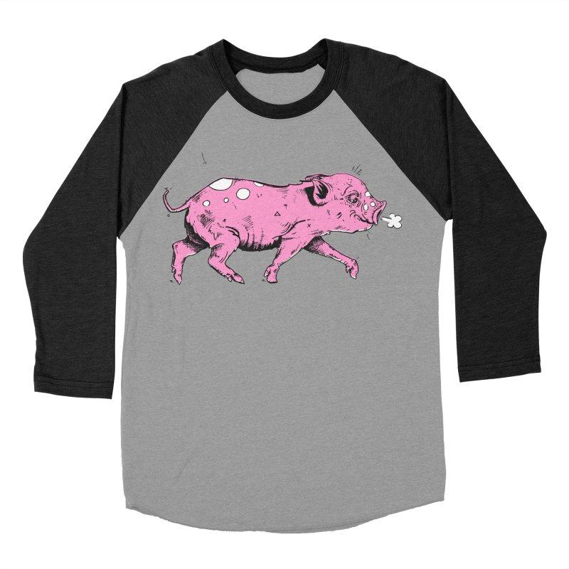 Hater Piggie Men's Baseball Triblend Longsleeve T-Shirt by Garrett Shane Bryant