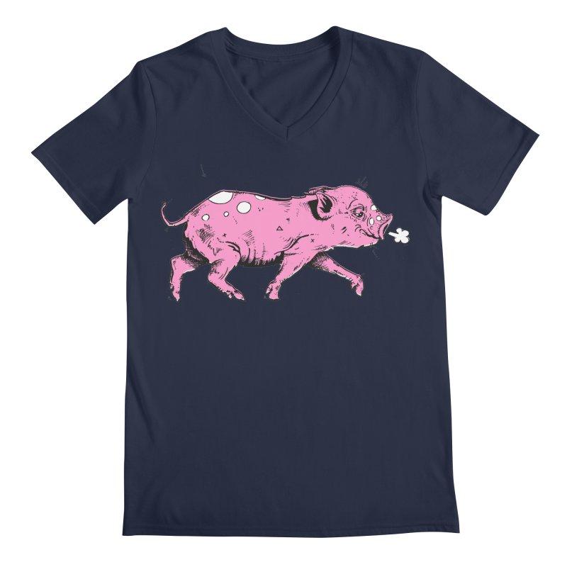 Hater Piggie Men's V-Neck by Garrett Shane Bryant