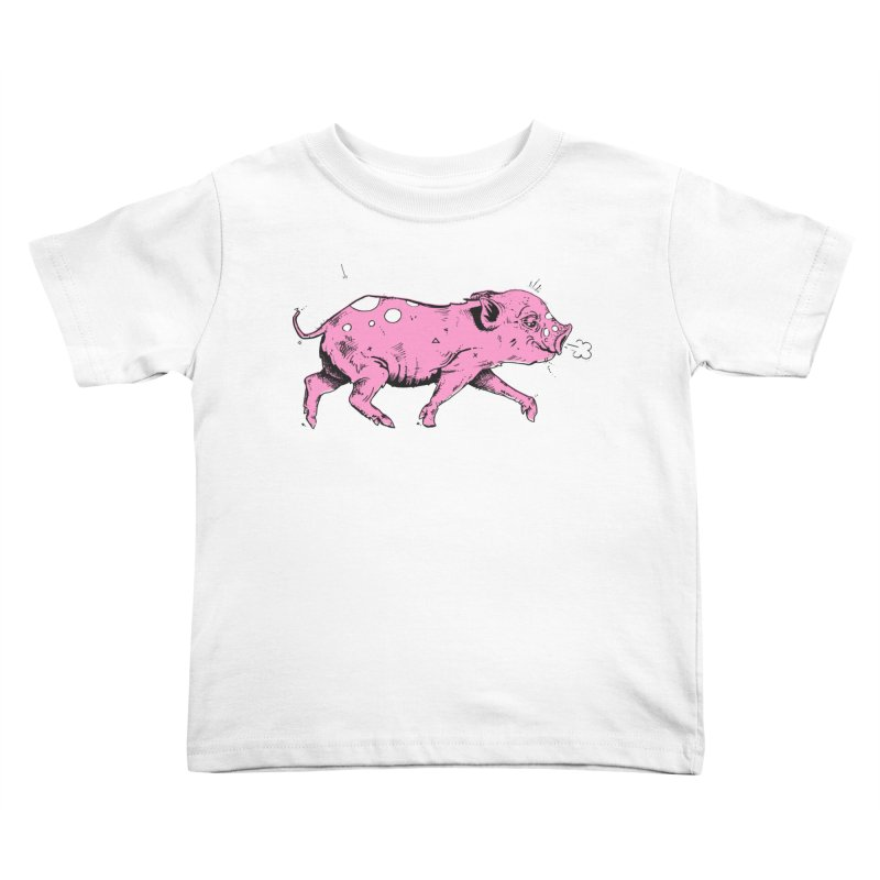 Hater Piggie Kids Toddler T-Shirt by Garrett Shane Bryant