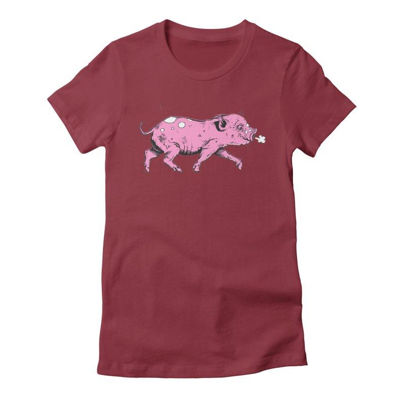 Hater Piggie Women's T-Shirt by Garrett Shane Bryant