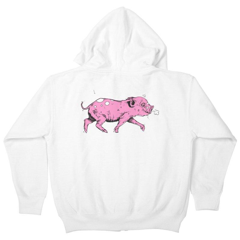 Hater Piggie Kids Zip-Up Hoody by Garrett Shane Bryant