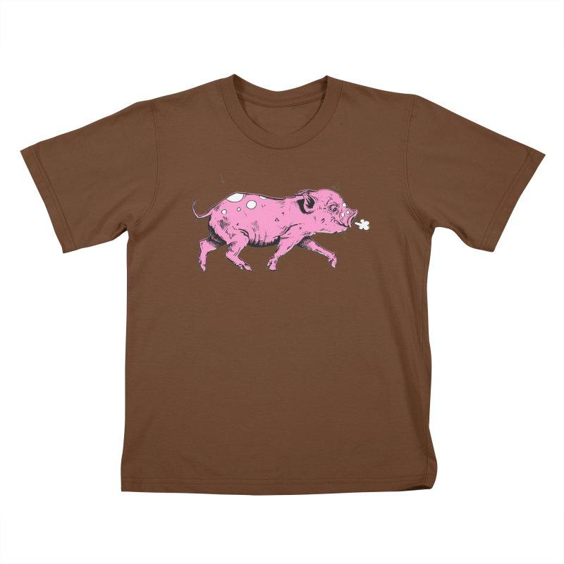 Hater Piggie Kids T-Shirt by Garrett Shane Bryant