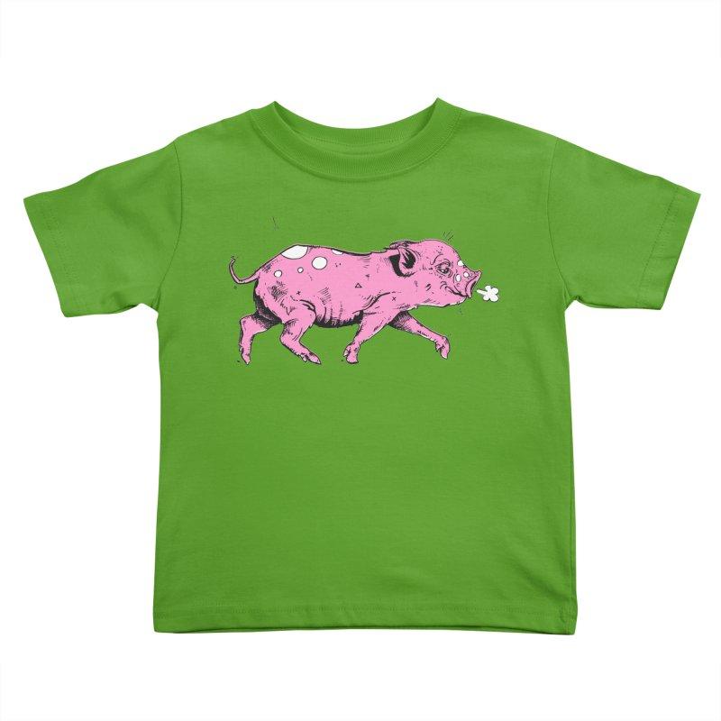 Hater Piggie Kids Toddler T-Shirt by Garrett Shane Bryant