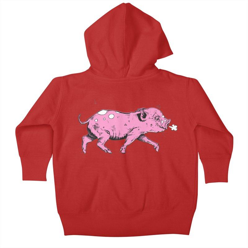 Hater Piggie Kids Baby Zip-Up Hoody by Garrett Shane Bryant
