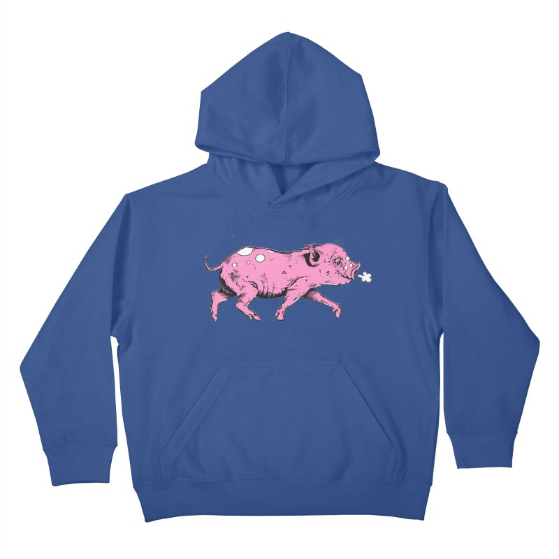 Hater Piggie Kids Pullover Hoody by Garrett Shane Bryant