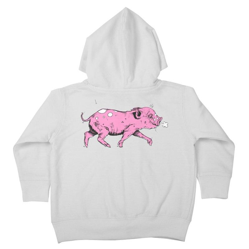 Hater Piggie Kids Toddler Zip-Up Hoody by Garrett Shane Bryant