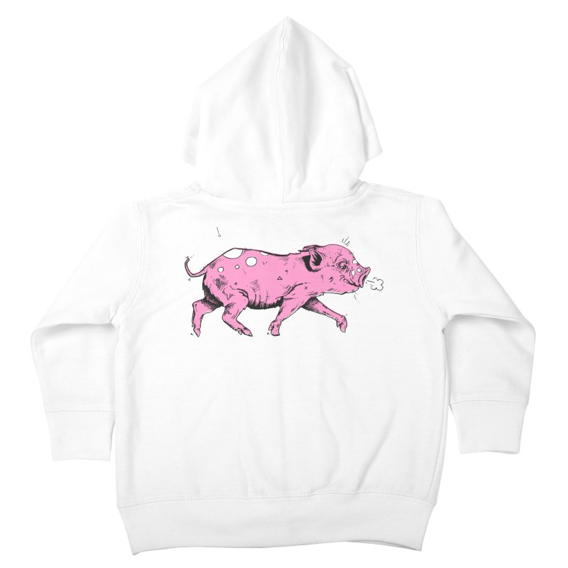 Hater Piggie Kids Toddler Zip-Up Hoody by Garrett Shane Bryant