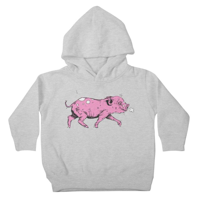 Hater Piggie Kids Toddler Pullover Hoody by Garrett Shane Bryant