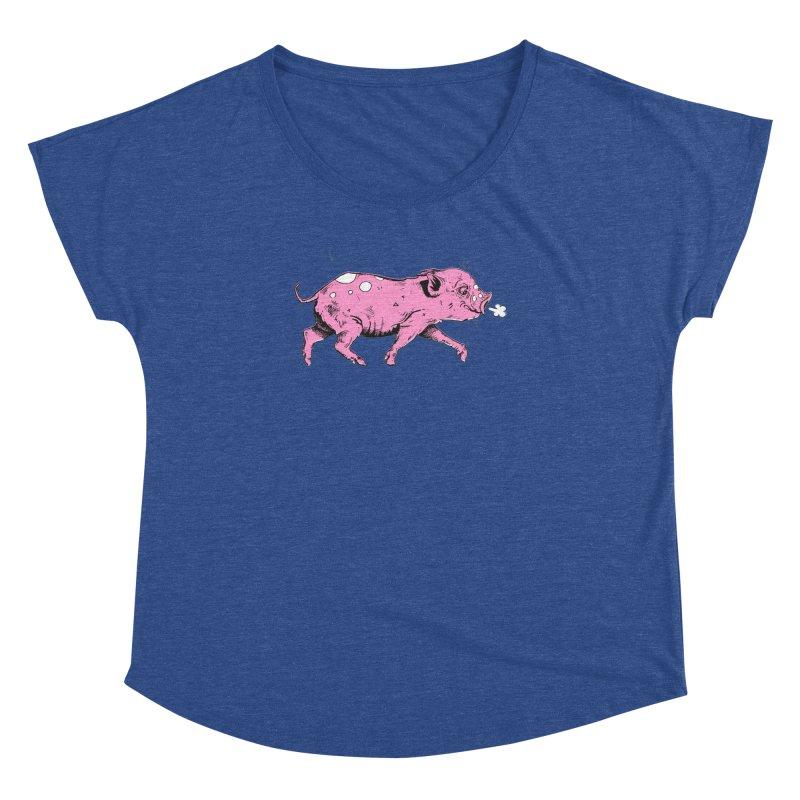 Hater Piggie Women's Scoop Neck by Garrett Shane Bryant