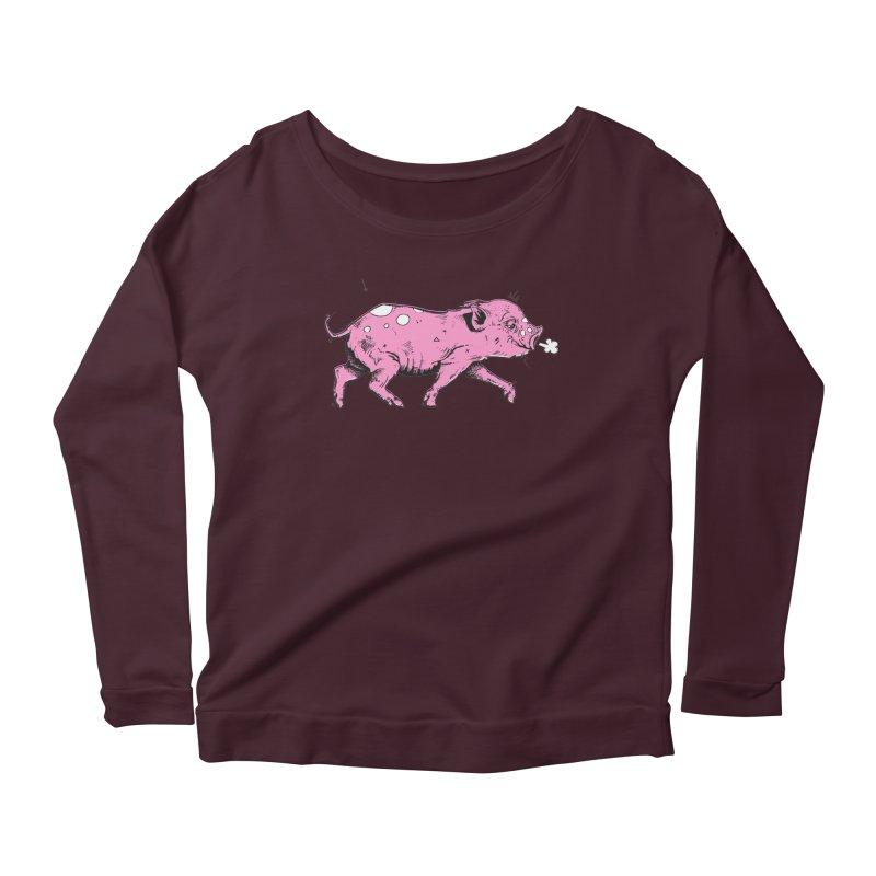 Hater Piggie Women's Scoop Neck Longsleeve T-Shirt by Garrett Shane Bryant