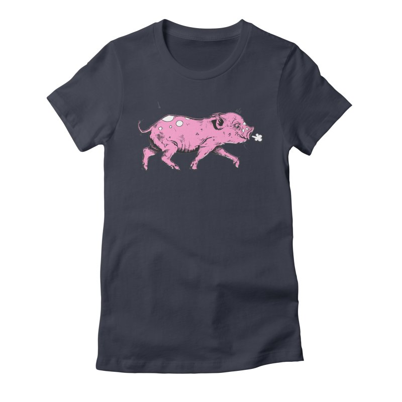 Hater Piggie Women's Fitted T-Shirt by Garrett Shane Bryant
