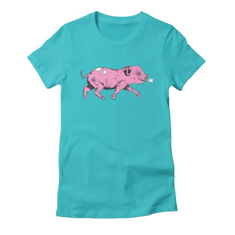 Hater Piggie Women's Fitted T-Shirt by Garrett Shane Bryant