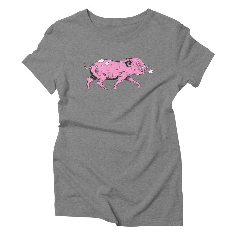 Hater Piggie Women's Triblend T-Shirt by Garrett Shane Bryant