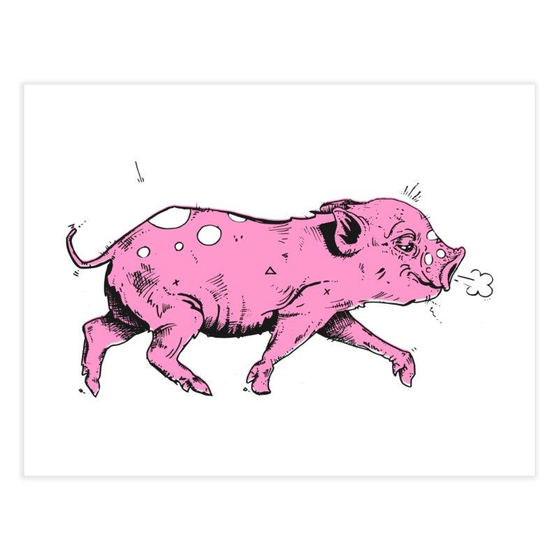 Hater Piggie Home Fine Art Print by Garrett Shane Bryant
