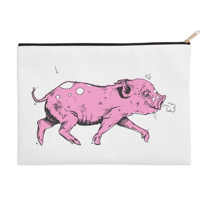 Hater Piggie Accessories Zip Pouch by Garrett Shane Bryant