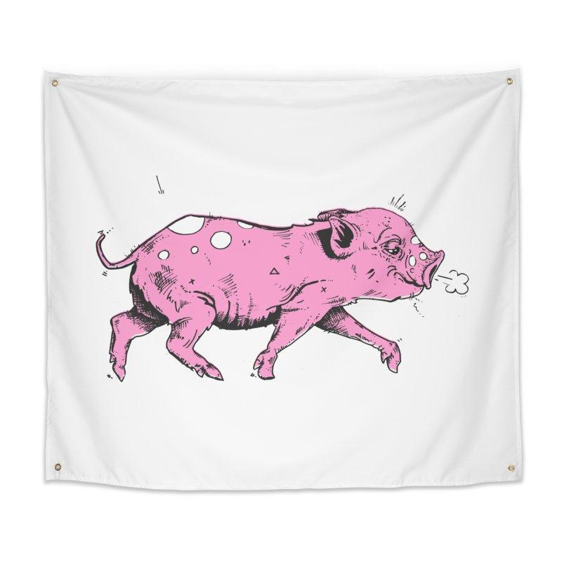 Hater Piggie Home Tapestry by Garrett Shane Bryant