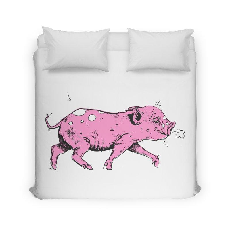 Hater Piggie Home Duvet by Garrett Shane Bryant