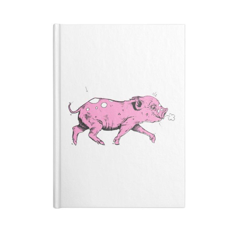 Hater Piggie Accessories Notebook by Garrett Shane Bryant