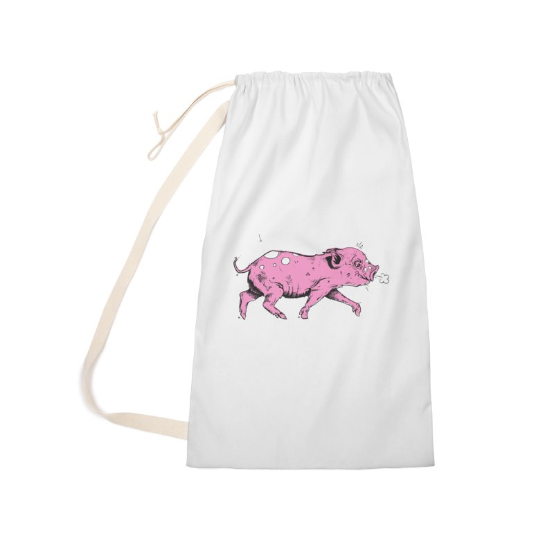 Hater Piggie Accessories Laundry Bag Bag by Garrett Shane Bryant