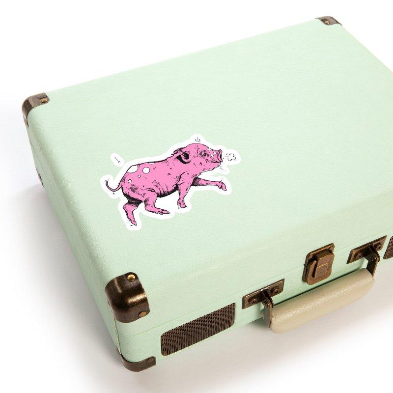 Hater Piggie Accessories Sticker by Garrett Shane Bryant