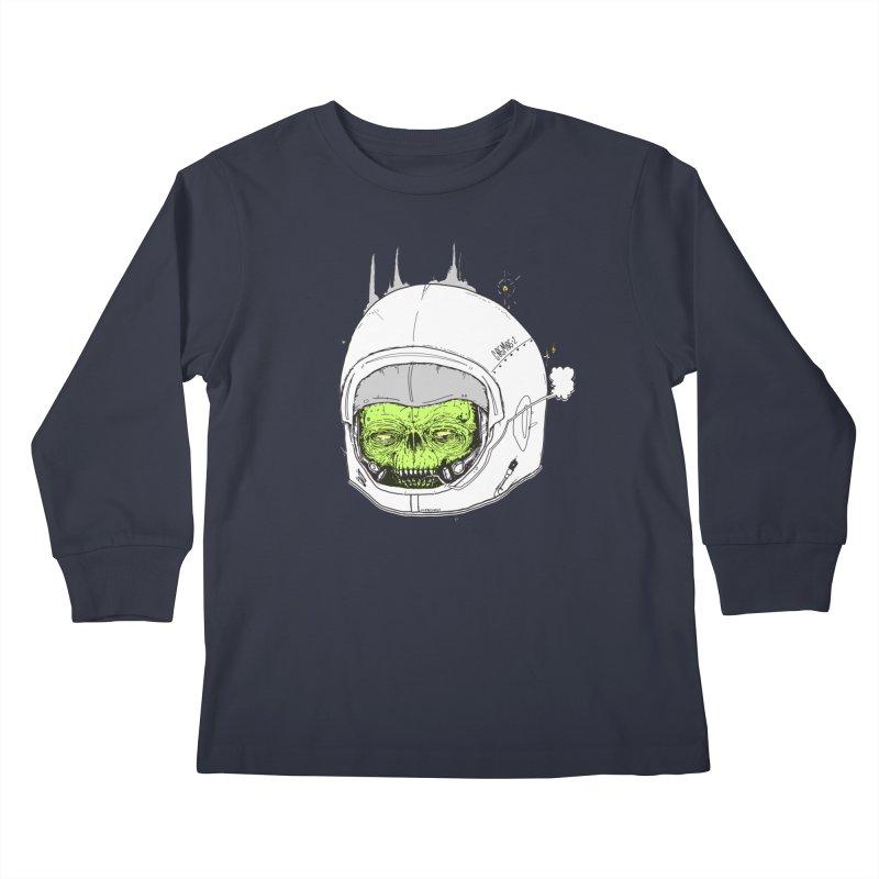 Blackest Hole Kids Longsleeve T-Shirt by Garrett Shane Bryant