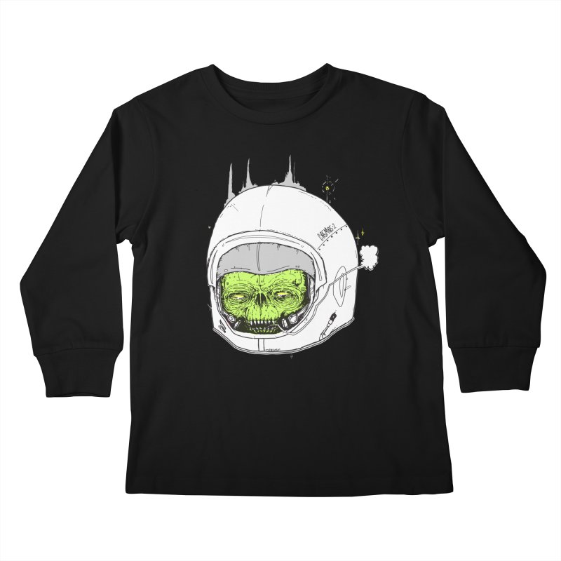 Blackest Hole Kids Longsleeve T-Shirt by Garrett Shane Bryant