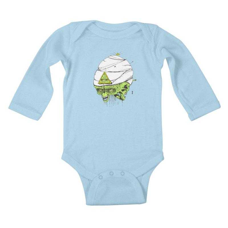 Onubis Kids Baby Longsleeve Bodysuit by Garrett Shane Bryant
