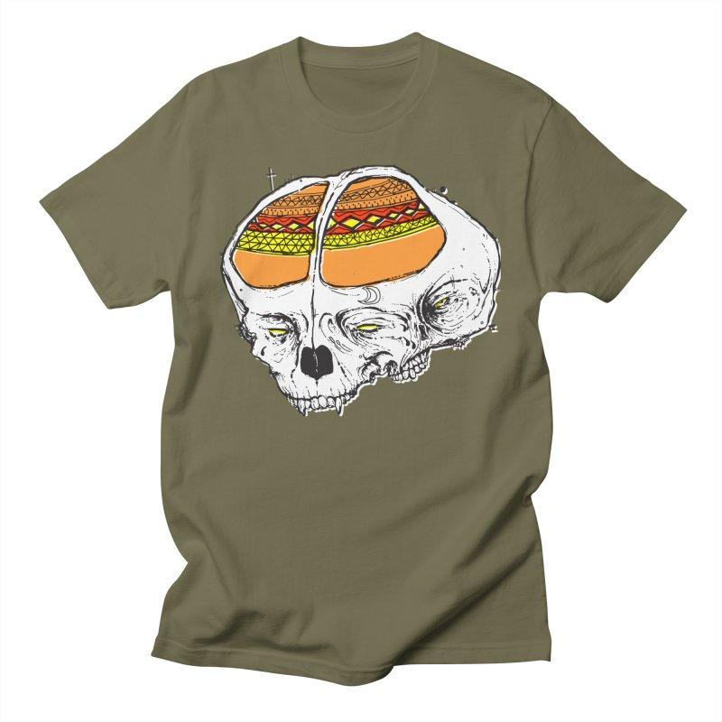 Wolf Shamen Men's T-Shirt by Garrett Shane Bryant