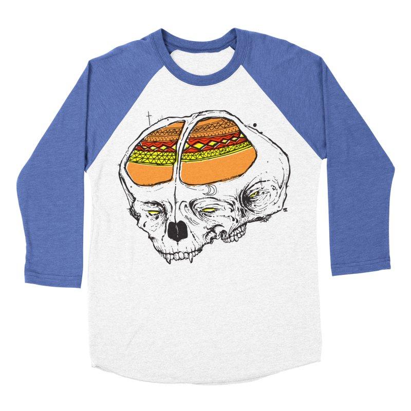 Wolf Shamen Women's Baseball Triblend Longsleeve T-Shirt by Garrett Shane Bryant